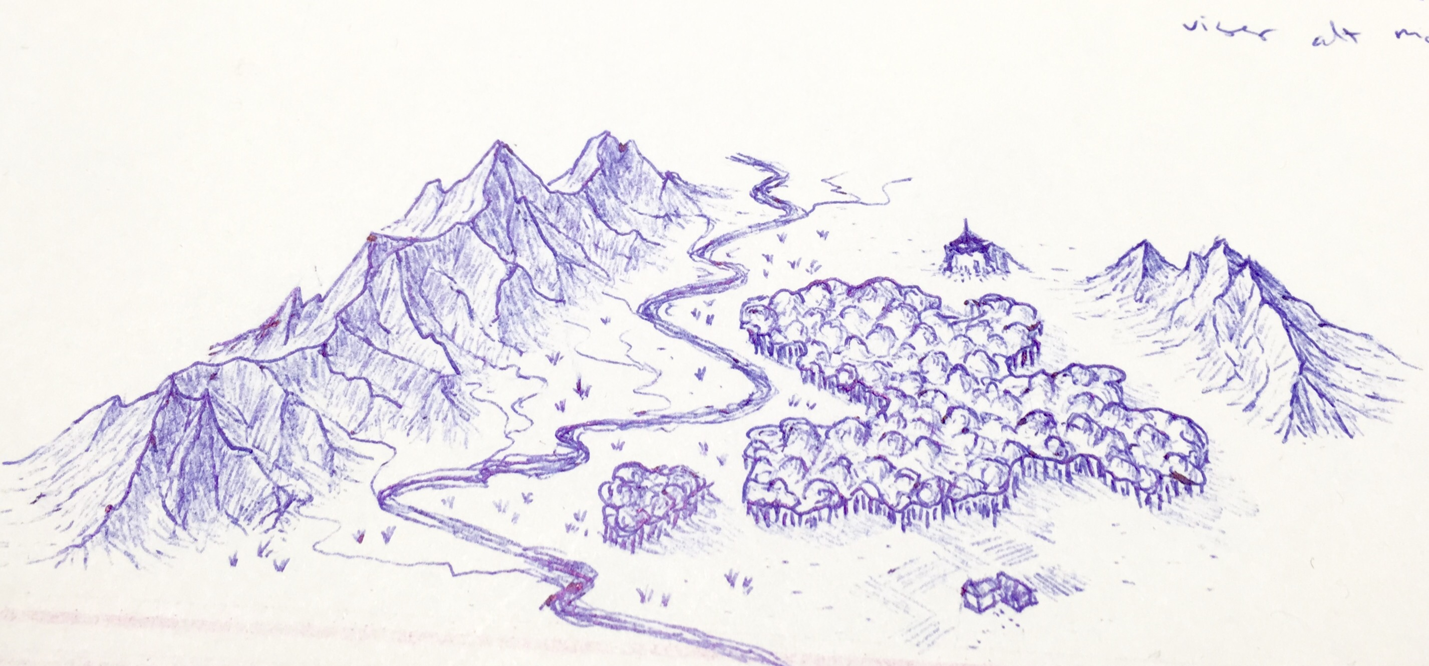 Valley sketch | Also, adventure on